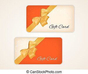 gift card with gold ribbon and bow