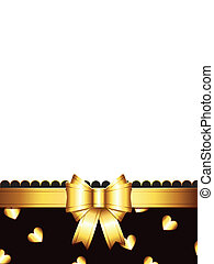 gift card with golden bow