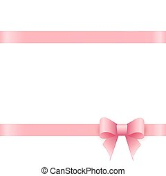 Gift card with pink bow and place for text