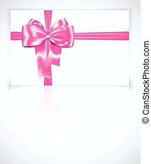 Gift card with pink ribbon