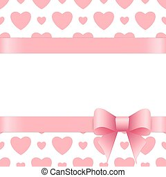 Gift card with place for text. Valentines day