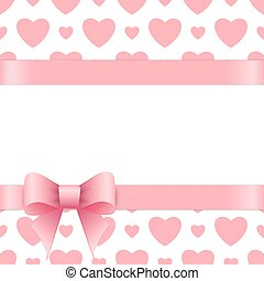 Gift card with place for text. Valentines day.