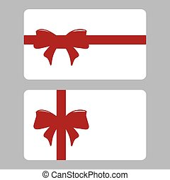Gift card with ribbon set design vector