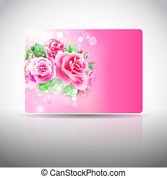 Gift card with roses