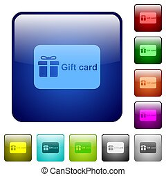 Gift card with text color square buttons