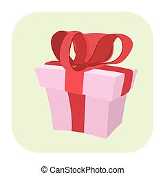 Gift cartoon icon