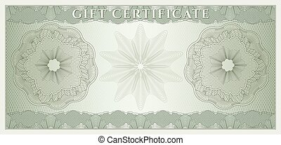 Gift Certificate, Coucher, Coupon
