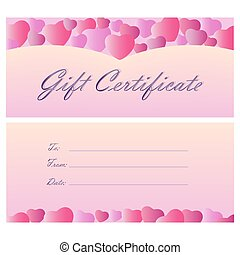 Gift certificate coupon template.