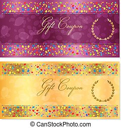 Gift certificate, Coupon, Voucher
