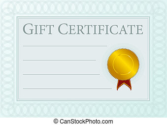 Gift Certificate - Blank Gift Certificate Document With...