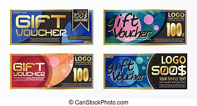 Gift certificate voucher coupon card background template