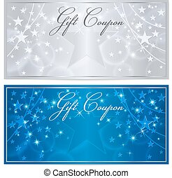 Gift certificate, Voucher, Coupon, Reward, Ticket template...