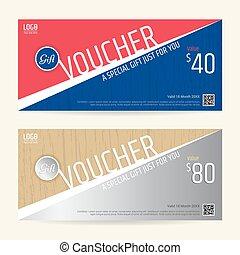 Gift certificate voucher coupon template with line art eps vector gift certificate voucher coupon template in sport theme yadclub Image collections