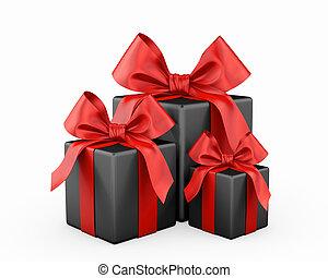 gift christmas box 3d render