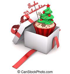 christmas cupcakes christmas set of sweet cupcakes. Black Bedroom Furniture Sets. Home Design Ideas
