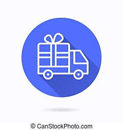 Gift delivery icon for graphic and web design.