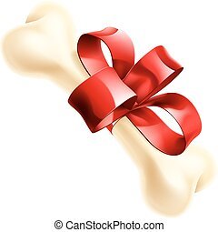 Gift Dog Bone Illustration