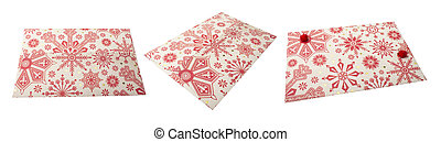 Gift envelope for holiday on a white background