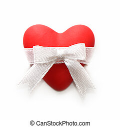 Gift for Valentine's Day. red heart
