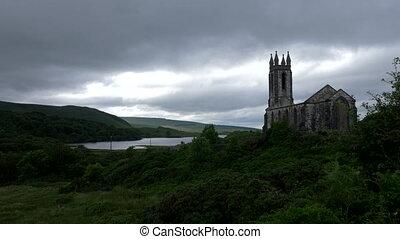 gift, glen, und, dunlewey, kirche, ruine, grafschaft mayo, irland, -, gebürtig, version