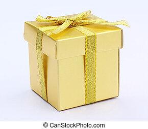 gift, gold box