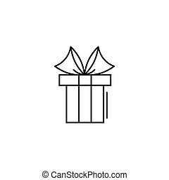 gift icon in line art style. Vector illustration esp 10