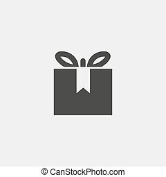 Gift Icon Isolated on White Background. vector illustration
