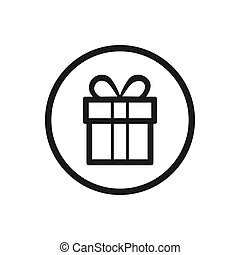 Gift icon on a white background