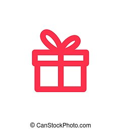 gift icon outline line logo vector download