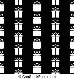 Gift icon seamless pattern