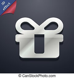 gift icon symbol. 3D style. Trendy, modern design with space for your text Vector