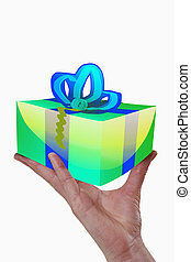 gift in a female hand