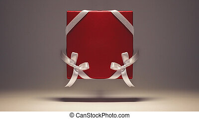 Gift in a Red Ornamented Box