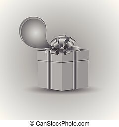 Gift in gray tone