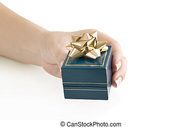 gift in hand