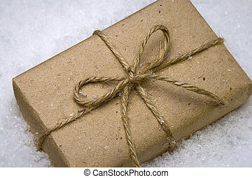 gift in snow