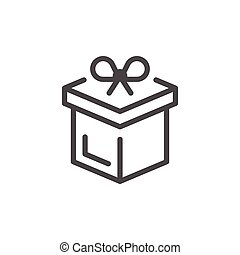 Gift line icon