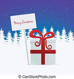 gift merry christmas banner