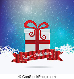 gift merry christmas ribbon colorful background
