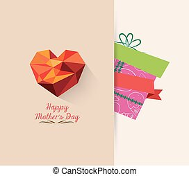 gift mother day background retro