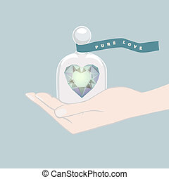 Gift of a heart symbolising Pure Love