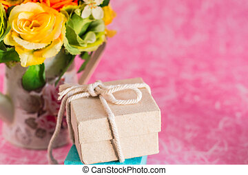 Gift on a background