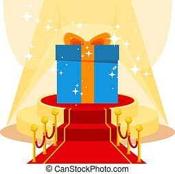 gift on red carpet