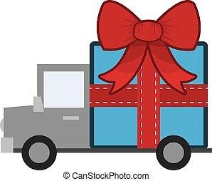 Gift on Truck