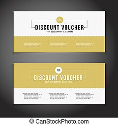 Gift or discount voucher template with modern design,...