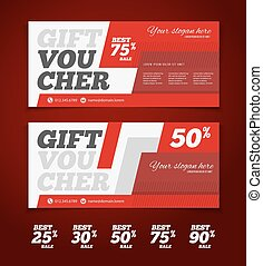 Gift or discount voucher template with modern design, special  offer or certificate coupon
