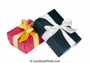 Gift packages isolated on white background