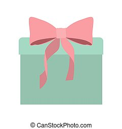 Gift packaging with pink bow