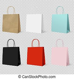 Gift Paper Colorful Bags Set