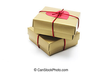 Gift Parcels on White Background